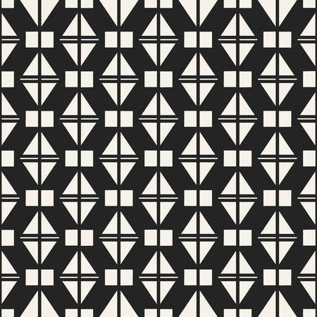 Abstract concept monochrome geometric pattern. Black and white minimal background. Creative illustration template. Seamless stylish texture. For wallpaper, surface, web design, textile, decor Reklamní fotografie