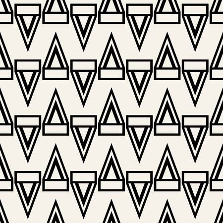 Abstract concept monochrome geometric pattern. Black and white minimal background. Creative illustration template. Seamless stylish texture. For wallpaper, surface, web design, textile, decor