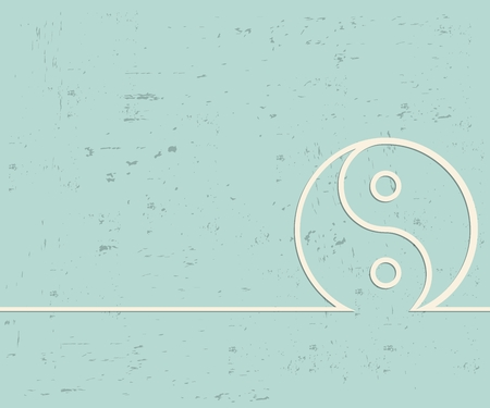 Creative Yin Yang. Art illustration template background. For presentation, layout, brochure, logo, page, print, banner, poster, cover, booklet, business infographic, wallpaper, sign, flyer. Imagens