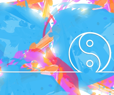 Creative Yin Yang. Art illustration template background. For presentation, layout, brochure, logo, page, print, banner, poster, cover, booklet, business infographic, wallpaper, sign, flyer. Stockfoto