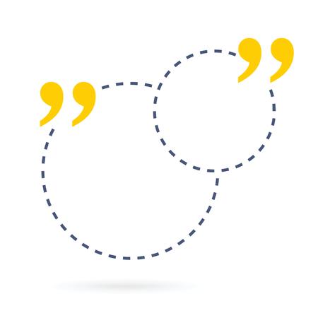 Concepto abstracto burbuja de texto de cotización cuadrada vacía. Para aplicaciones web y móviles aisladas en el fondo, diseño de plantilla de ilustración, presentación creativa, redes sociales de infografía empresarial. Foto de archivo