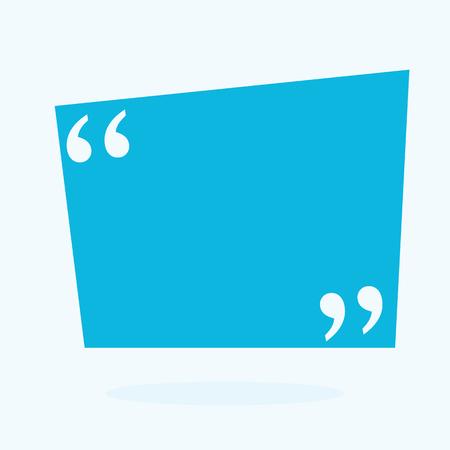 Abstraktes Konzept leere Rede quadratische Zitat Textblase. Für Web- und mobile App einzeln auf Hintergrund, Illustrationsvorlagendesign, kreative Präsentation, Business-Infografik-Social Media Standard-Bild