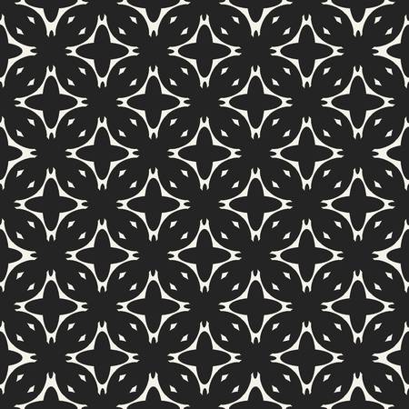 Abstract concept monochrome geometric pattern. Black and white minimal background. Creative illustration template. Seamless stylish texture. For wallpaper, surface, web design, textile, decor Фото со стока