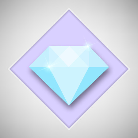 Abstract creative concept icon of diamond. For web and mobile content isolated on background, unusual template design, flat silhouette object and social media image, triangle art origami.