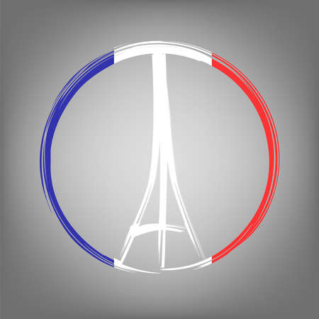 Pray for Paris, 13 November 2015. Abstract creative concept image. For art illustration template design, infographic and social media. Archivio Fotografico