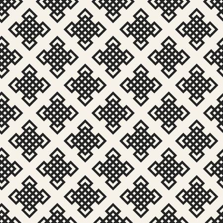 Abstract concept monochrome geometric pattern. Black and white minimal background. Creative illustration template. Seamless stylish texture. For wallpaper, surface, web design, textile, decor 版權商用圖片
