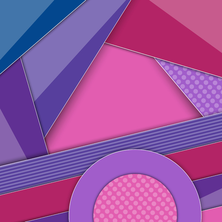 Minimal geometric colorful background. Abstract concept creative material design. For web, mobile, app, modern template, presentation, business, poster, booklet, advertising, cartoon kid wallpaper.
