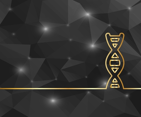 Creative DNA. Art illustration template background. For presentation, layout, brochure, logo, page, print, banner, poster, cover, booklet, business infographic, wallpaper, sign, flyer.