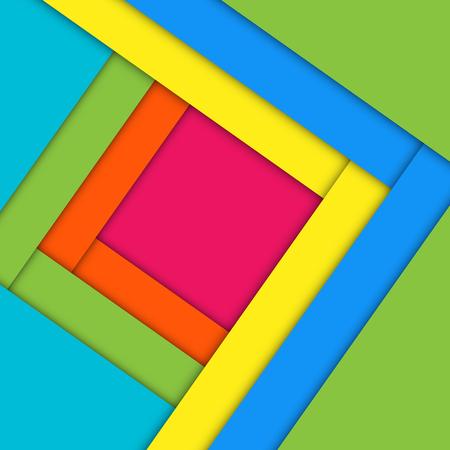 Fond coloré géométrique minimal. Conception de matériel créatif concept abstrait. Pour le web, le mobile, l'application, le modèle moderne, la présentation, l'entreprise, l'affiche, le livret, la publicité, le papier peint pour enfant de dessin animé. Banque d'images