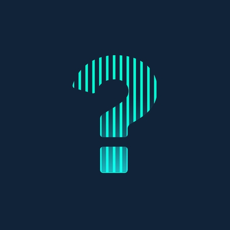 Abstract Creative concept icon of question mark for Web and Mobile Applications isolated on background. illustration template design, Business infographic and social media, origami icons Banque d'images