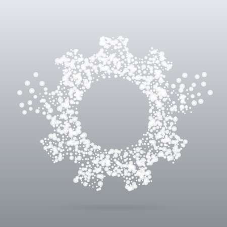 Abstract creative concept icon of gear for Web and Mobile app isolated on background. Art illustration template design, Business infographic and social media, digital flat silhoette