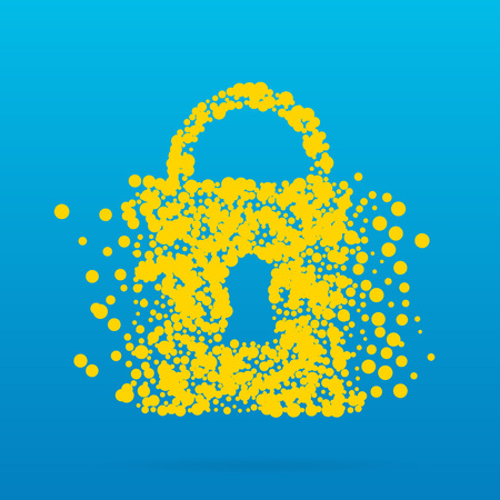 Abstract creative concept icon of padlock for Web and Mobile Applications. Art illustration creative template design, Business software and social media infographic. Фото со стока