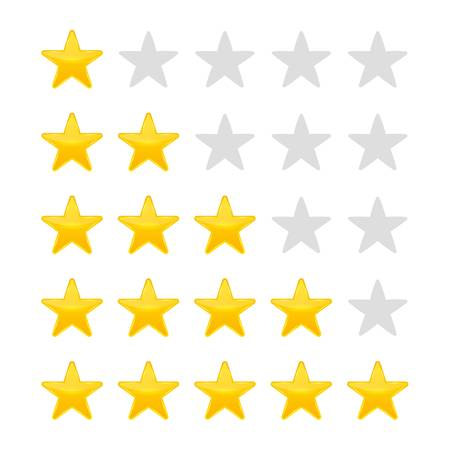 Creative illustration of star rating. Vote like ranking art design. Abstract concept graphic element. Choice rate. Infographic classification.