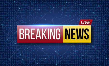 Creative illustration of world live breaking news. TV channel show broadcast art design. Business, technology background. Abstract concept graphic element.