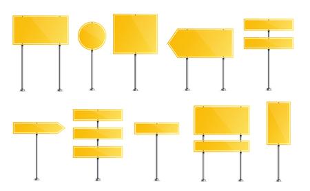 Illustration créative de panneau de signalisation isolé sur fond. Conception d'art. Élément graphique de concept abstrait. Modèle de maquette pour un texte. Plaque vierge de circulation routière.