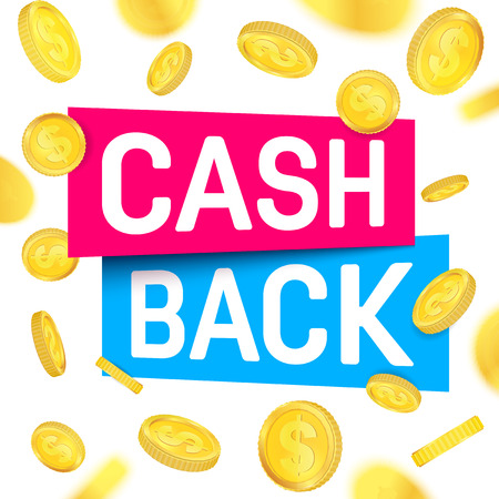 Creative illustration of cash back, cashback return, money refund tag isolated on background. Art design sticker, labels, emblem advertisement banner template. Abstract concept graphic element. 写真素材