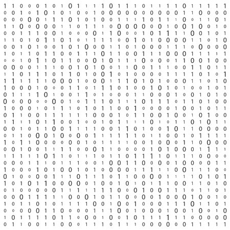 Creative illustration of stream of binary code. Computer matrix background art design. Digits on screen. Abstract concept graphic data, technology, decryption, algorithm, encryption element.