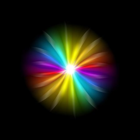 Creative illustration of rainbow glare spectrum isolated on background. Art design gay pride colors. Abstract concept graphic element.
