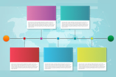 Creative illustration of infographic company milestones timeline template isolated on background. Photo placeholders. Art design. Abstract concept process diagram, graphic element.