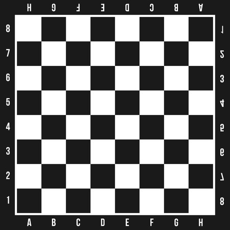 Illustration créative de jeu d'échecs isolé sur fond. Art design damier, damier, échiquier, avions. Élément graphique de concept abstrait. Banque d'images