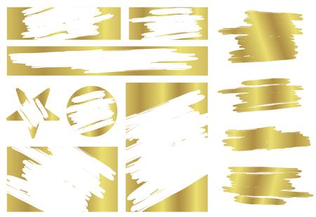 Kreative Illustration der Lotterie-Scratch- und -Gewinn-Spielkarte auf Hintergrund isoliert. Coupon Glück oder Chance verlieren. Kunstdesign zerrissene Effektmarken. Grafikelement des abstrakten Konzepts. Standard-Bild