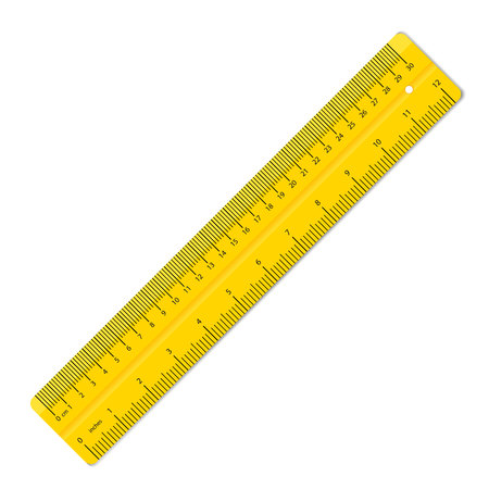 Creative illustration of realistic colorful rulers isolated on background. Art design measuring tool supplies. Abstract concept graphic element.