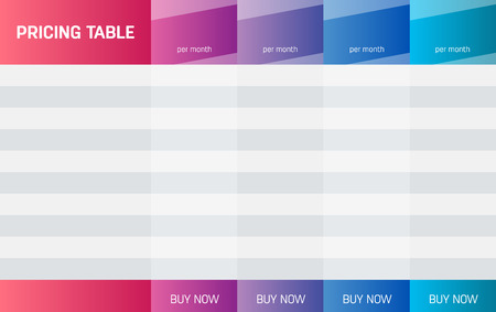 Creative illustration of business plans web comparison pricing table isolated on background. Art design modern banner list. Abstract concept graphic websites, applications element.