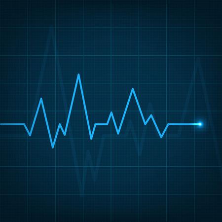 Kreative Illustration des Herzlinienkardiogramms lokalisiert auf Hintergrund. Kunstdesign Gesundheit medizinischer Herzschlagpuls. Grafikelement des abstrakten Konzepts. Standard-Bild