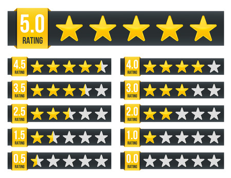 Creative illustration of star rating. Vote like ranking art design. Abstract concept graphic element. Choice rate. Infographic classification. Imagens