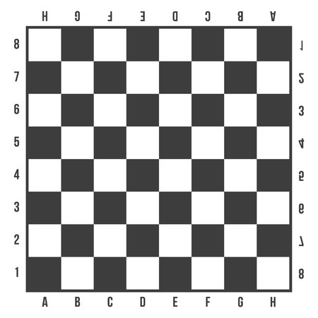 Creative illustration of chess board set isolated on background. Art design checkered, checkerboard, chessboard, planes. Abstract concept graphic element.