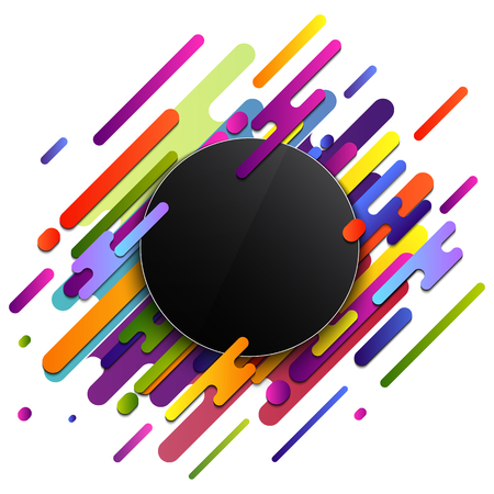Creative illustration of modern style composition isolated on background. Art design geometric colorful image shapes. Abstract concept graphic dynamic various rounded element.