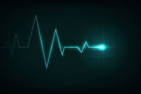 Creative illustration of heart line cardiogram isolated on background. Art design health medical heartbeat pulse. Abstract concept graphic element.