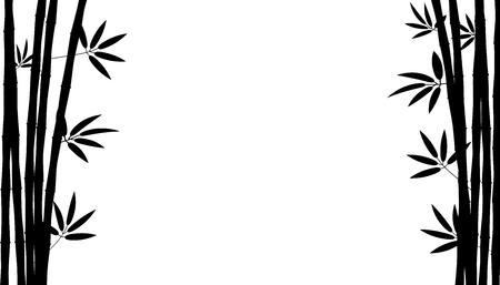 Kreative Illustration des chinesischen Bambusgrasbaums. Tropisches asiatisches Pflanzenkunstdesign. Grafikbanner des abstrakten Konzepts, Broschüre, Cover, Broschüre, Druck, Flyer, Buch, leer, A4-Element