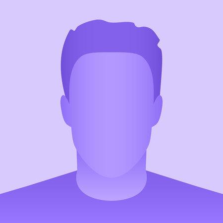 Illustration créative de l'espace réservé de profil d'avatar par défaut isolé sur fond. Maquette de modèle vierge de photo grise de conception d'art. Élément graphique de concept abstrait. Banque d'images