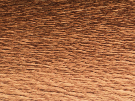 Gradient chestnut color tone background. Abstract rippled and wavy surface in warm earth color tone
