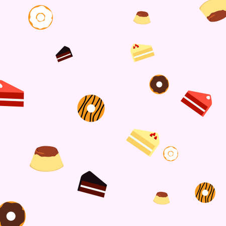 vector design, pattern of food dessert