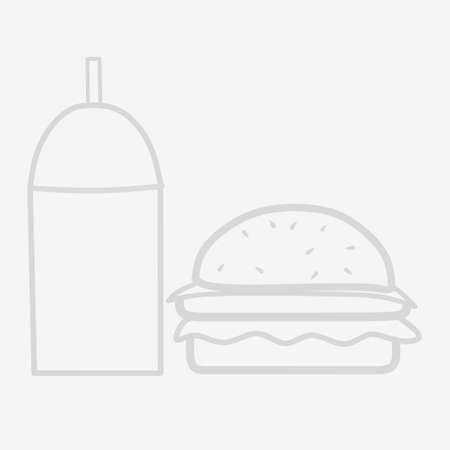 simple doodle art, drink and burger