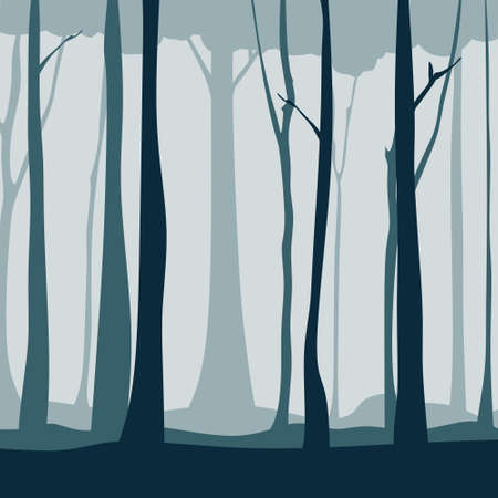 Forest tree silhouette illustration. Good for your background, web, etc
