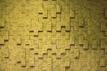 Sandstone Brick wall texture background. Natural wallpaper pattern. Banco de Imagens