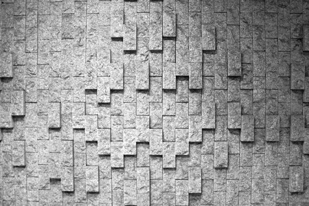 Sandstone Brick wall texture background. Natural wallpaper pattern. Black and white frame.