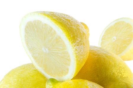 soppy: Sliced lemon with water drops