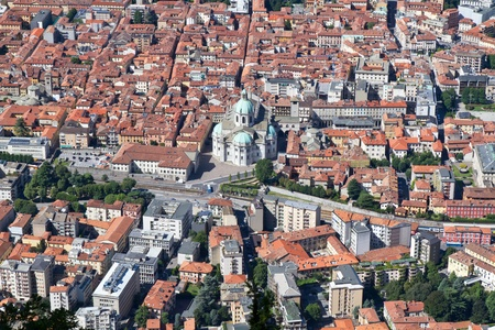 The small town of Como in Italy, Lombardia, from above Stock Photo - 10433865