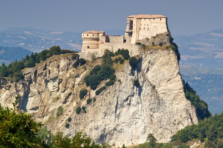 Fortress of San Leo, Italy, with landscape photo