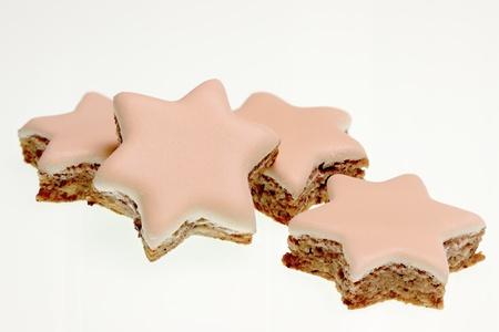self made: Christmas Cookies, cinnamon stars Stock Photo