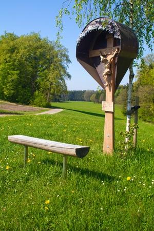 wayside: Wayside shrine in Bavaria, Germany Stock Photo