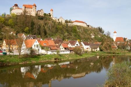 Castle Harburg in Franconia, Germany photo