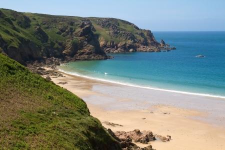 Pittoresco de Grève Lecq Beach, Jersey, Regno Unito