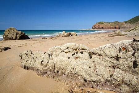 Schilderachtige Greve de Lecq Beach, Jersey, Verenigd Koninkrijk