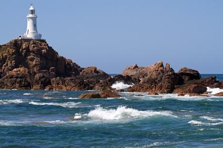 Le Corbiere Lighthouse, Jersey, UK photo