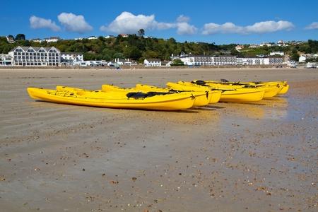St. Brelades Bay, Jersey, UK, with Kajaks photo
